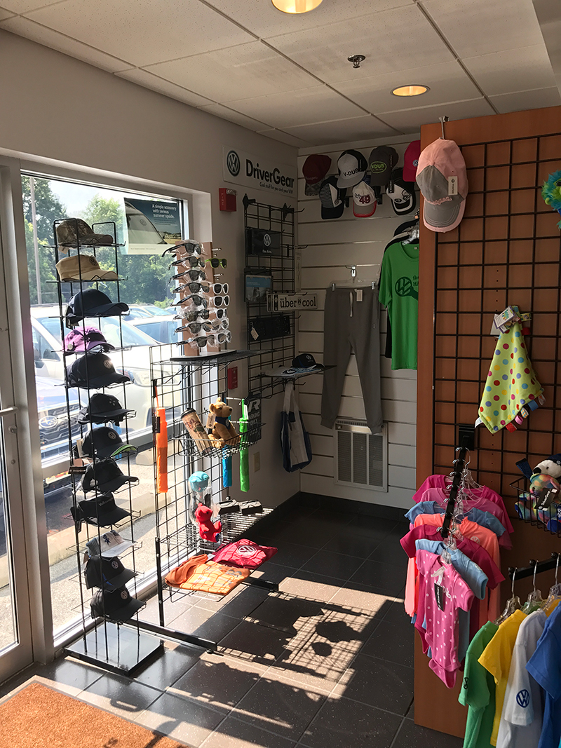 picture of the right side of our store featuring vw gear for sale