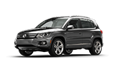 silver volkswagen tiguan suv that can fit you and your friends