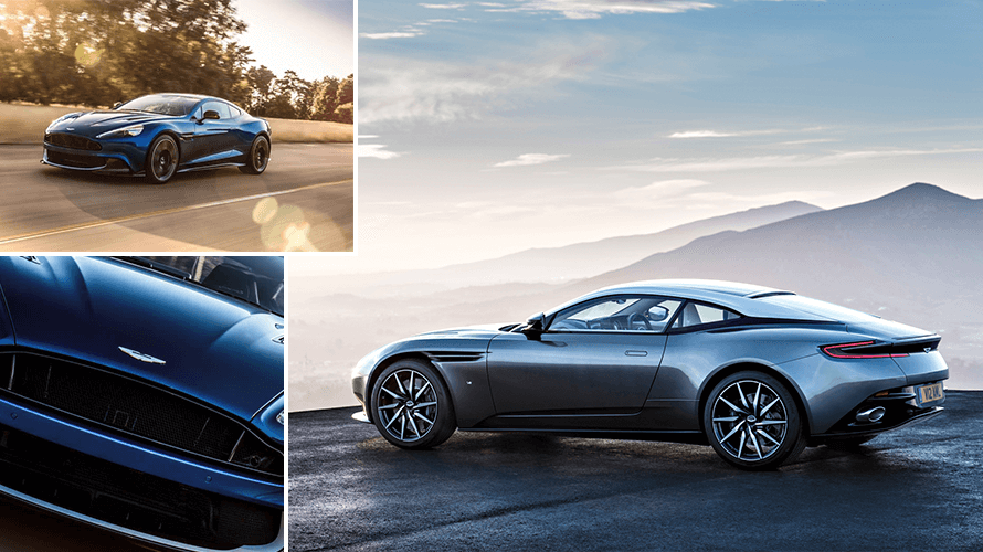 Collage Of Aston Martin Cars For Sale