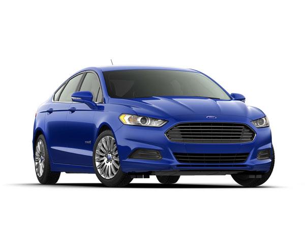blue ford fusion hybrid