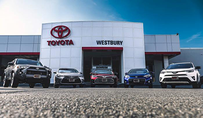 Some of the Toyota vehicles for sale here at Westbury Toyota