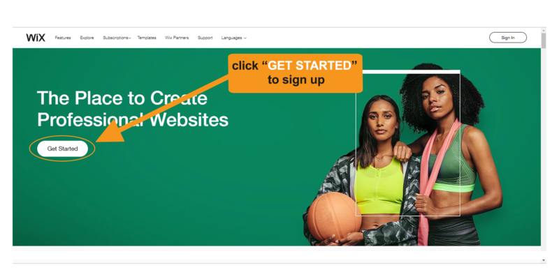 Create Wix website - Get started