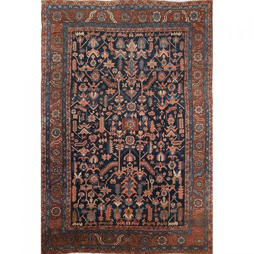 107712 – Antique Hand-woven Persian Bakhshayesh Rug 9.0 x 13.3
