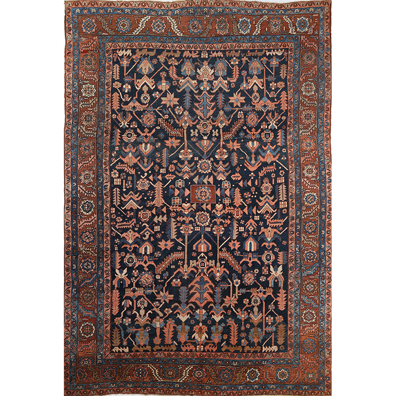 107712 – Antique Hand-woven Persian Bakhshayesh Rug 9.0 x 13.3