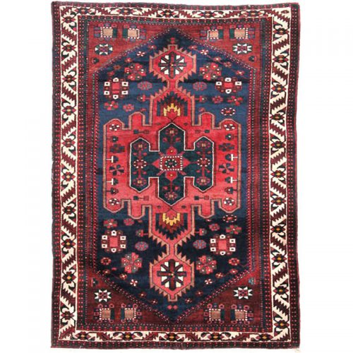 Antique Hand-woven Persian Bakhtiari Rug 4.10 x 7.0