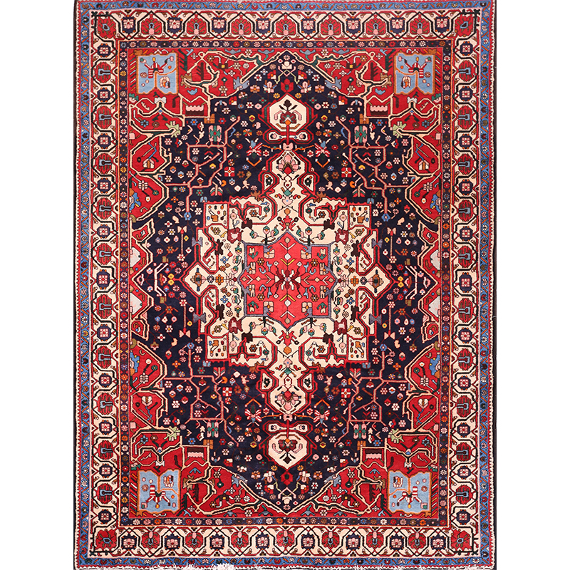 "7'6"" x 10'0"" Antique Persian Bakhtiari Rug - 102528"