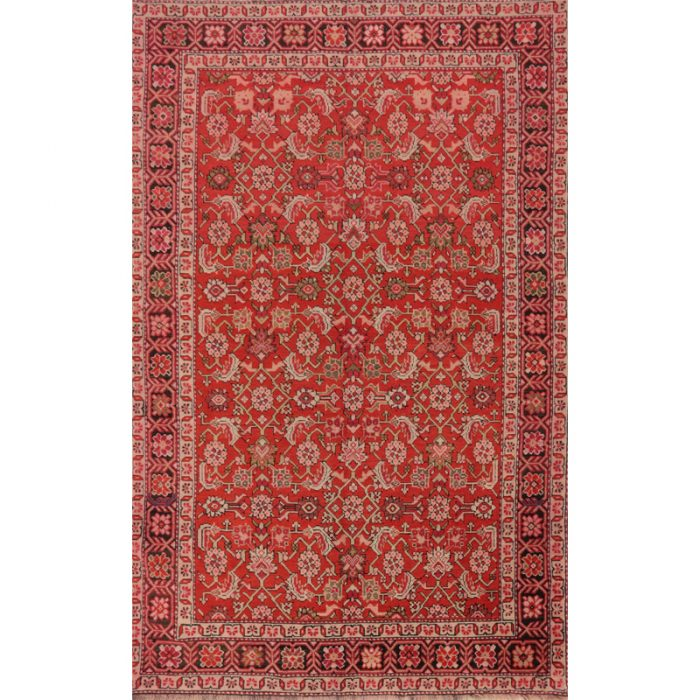 Antique Russian Shirvan Area Rug 4.3x6.7 - A102303