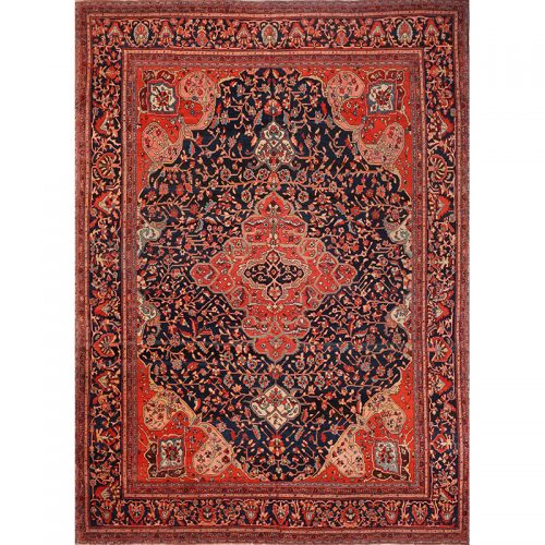 "8'10"" x 12'0"" Antique Persian Farahan Rug - 107371"