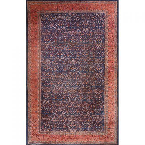 "12'0"" x 19'2"" Antique Indian Agra Rug - 108061"