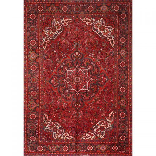 Antique Persian Heriz Area Rug 7.0x9.8 - A100102