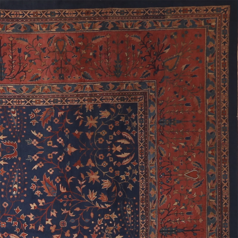 Antique Hand-woven Indian Agra Style Rug 12.0 x 19.2