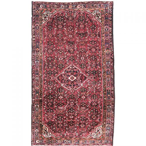 Old Persian Hamedan Area Rug 5.3x9.3