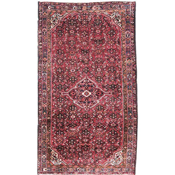 Old Persian Hamedan Area Rug 5.3x9.3