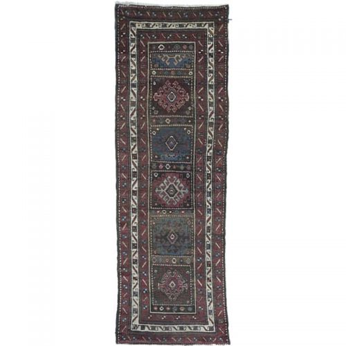 Antique Hand-woven Persian Bakhtiari Rug 3.5 x 10.7