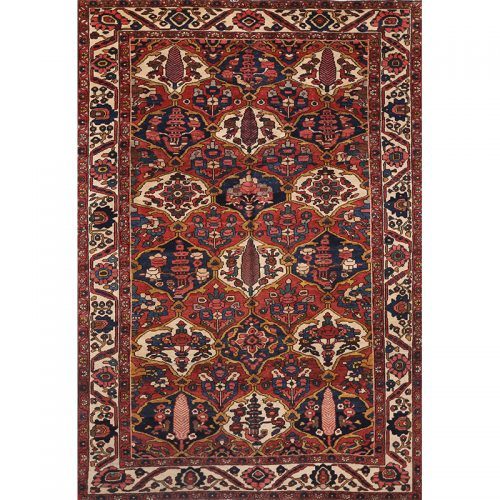 Antique Hand-woven Persian Bakhtiari Rug 7.0 x 10.0 - 102243
