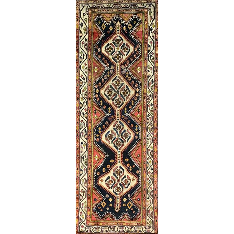 4x11 Antique Persian Bakhtiari Rug - 102357