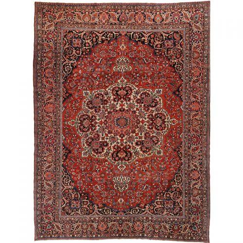 """10'6"""" x 14'0"""" Antique Persian Bakhtiari Sharcord Rug - 107465"""