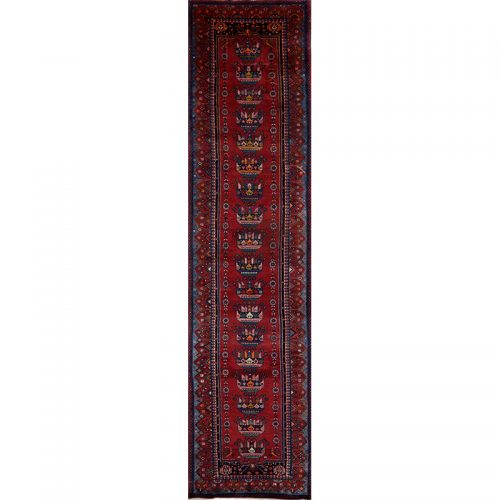 """3'9"""" x 15'10"""" Old Persian Malayer Runner - 108662"""