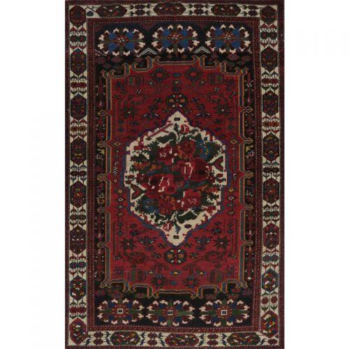 "4'5"" x 7'1"" Antique Persian Bakhtiari Rug - 102504"