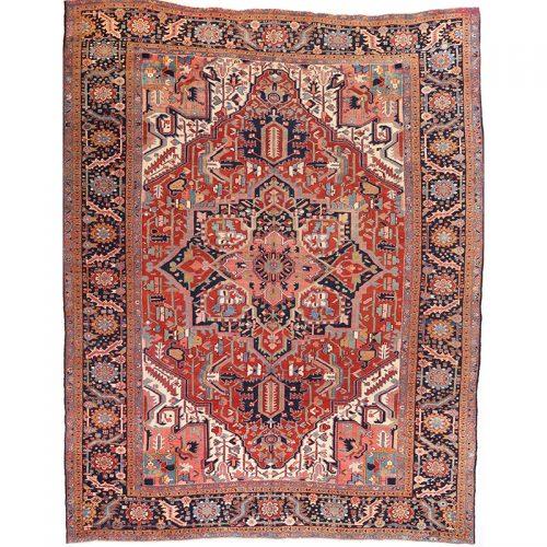 """11'0"""" x 13'9"""" Antique Persian Heriz Rug - 106711"""