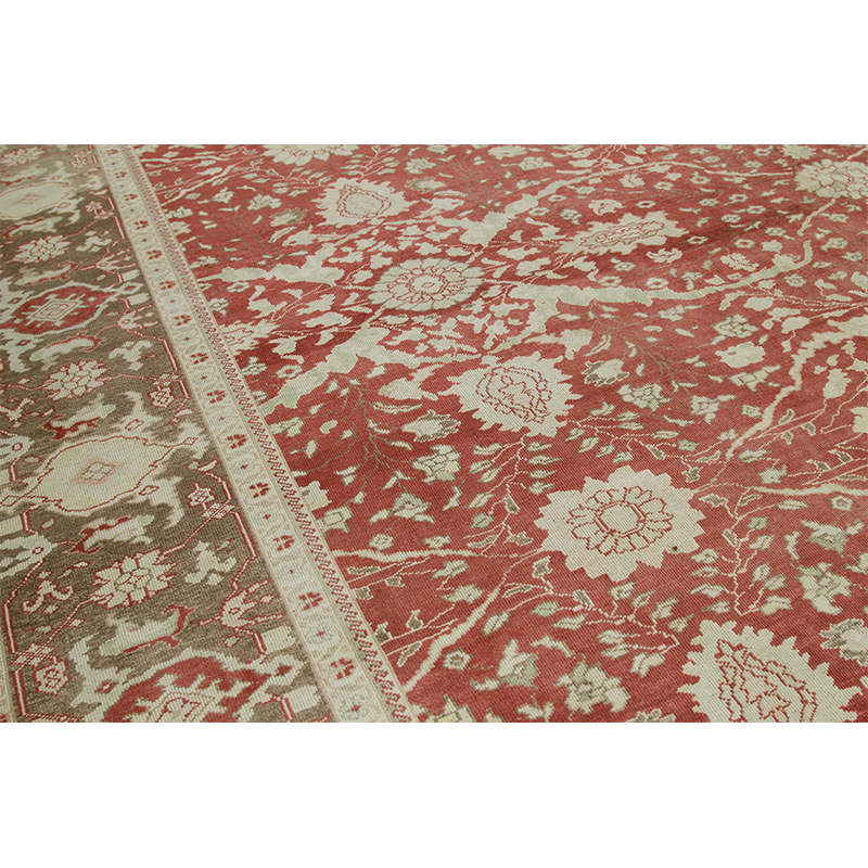 A108782 Persian Sultanabad Style Area Rug 11 2x14 4