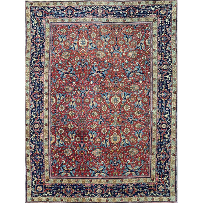 "8'6"" x 11'4"" Antique Persian Tabriz Rug - 103941"
