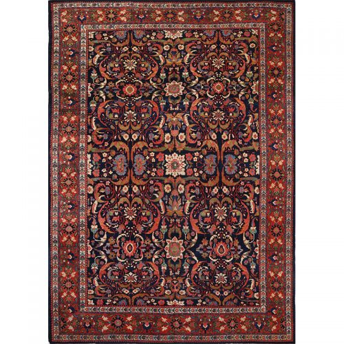 Antique Handwoven Persian Mahal Area Rug 9.0x12.0