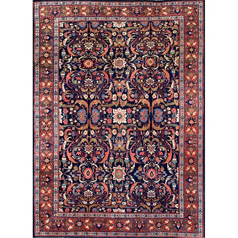 9x12 Antique Persian Mahal Rug - 107461
