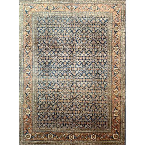"9'3"" x 12'8"" Antique Persian Tabriz Rug - 107728"
