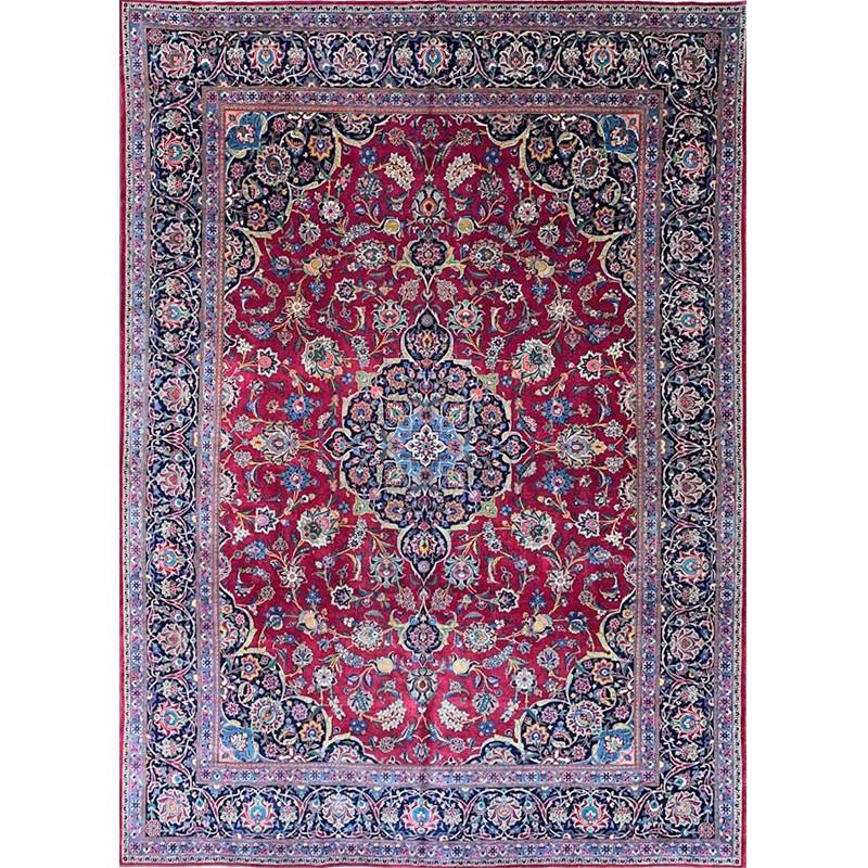 "8'9"" x 12'5"" Old Persian Kashan Rug - 108682"