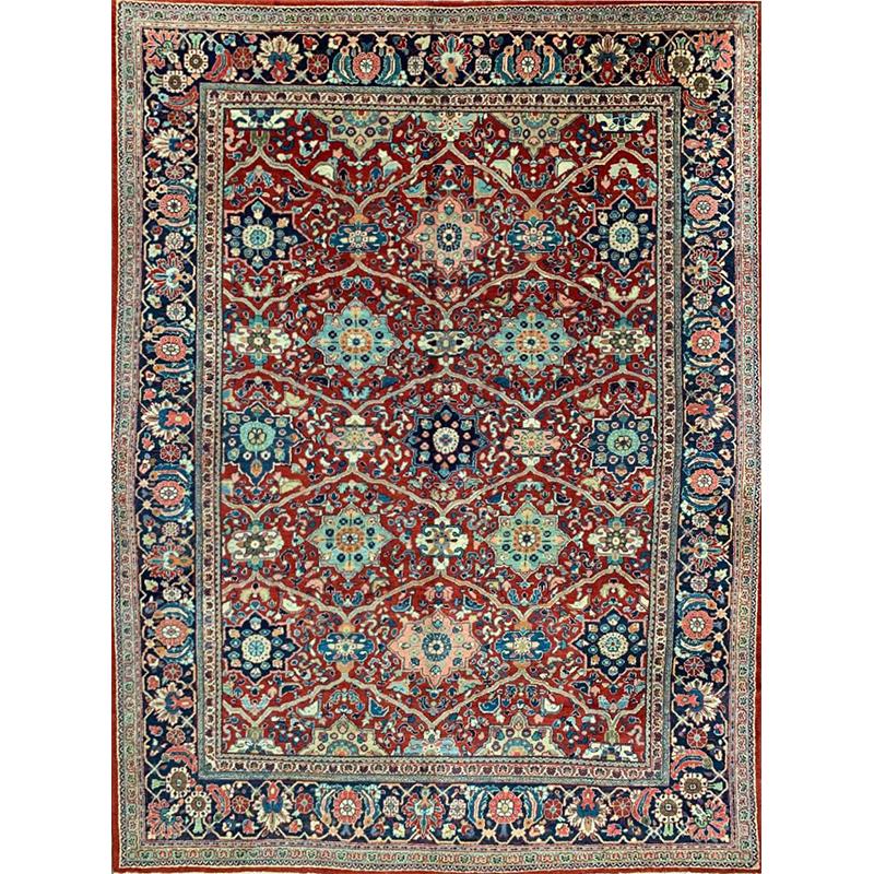 """9'0"""" x 12'0"""" Antique Persian Mahal Rug - 500163"""
