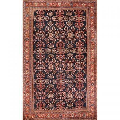 A100128 - Antique Hand-woven Persian Mahal Rug 12.0 x 18.0