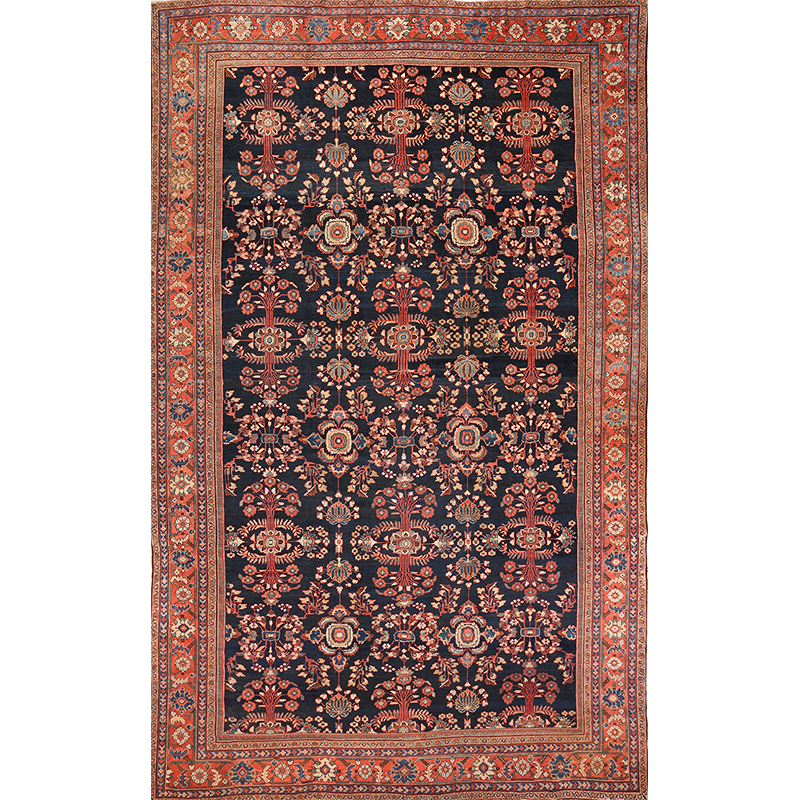 Antique Handwoven Persian Mahal Rug 12.0x18.0 - A100128