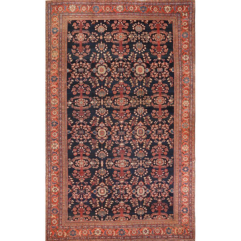 Antique Handwoven Persian Mahal Rug 12.0x18.0 - A100128
