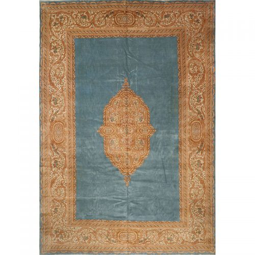 Antique Handwoven Persian Kerman Area Rug 11.9x17.4 - A108693