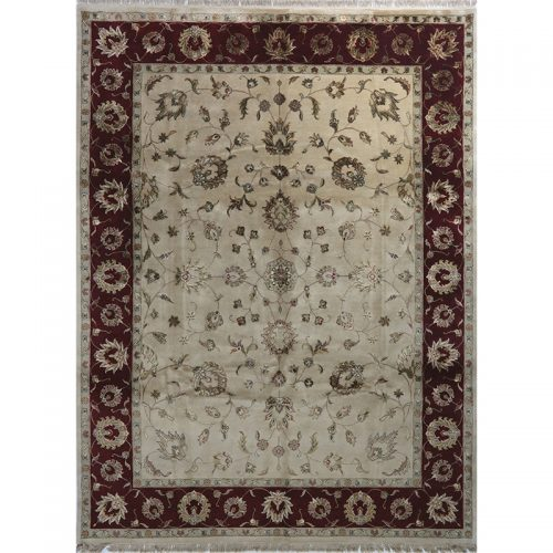 Traditional Hand-woven Persian Tabriz Style Indo Rug 9.2 x 12.2 - 468
