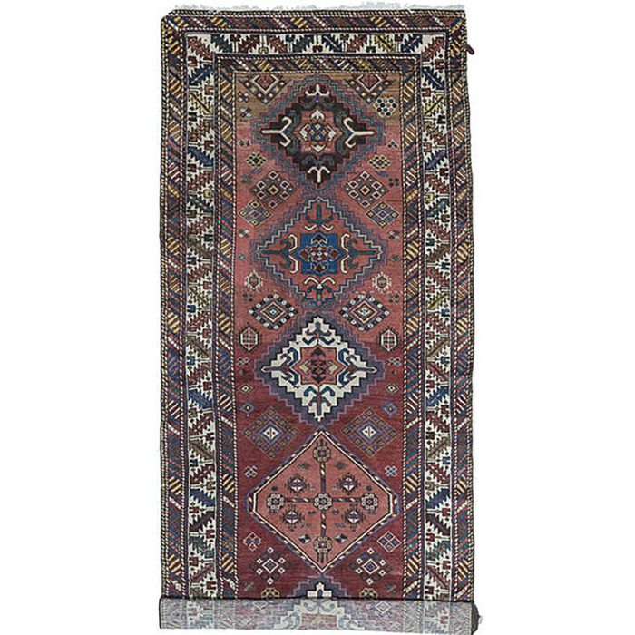C101397 - Antique Handwoven Persian Malayer Area Rug 3.7x12.10