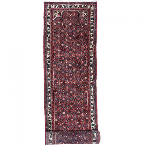 Old Handwoven Persian Mehraban Area Rug 2.8x16.8