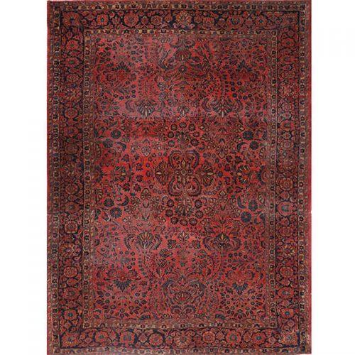 "8'0"" x 10'7"" Antique Persian Sarouk Rug - 108697"