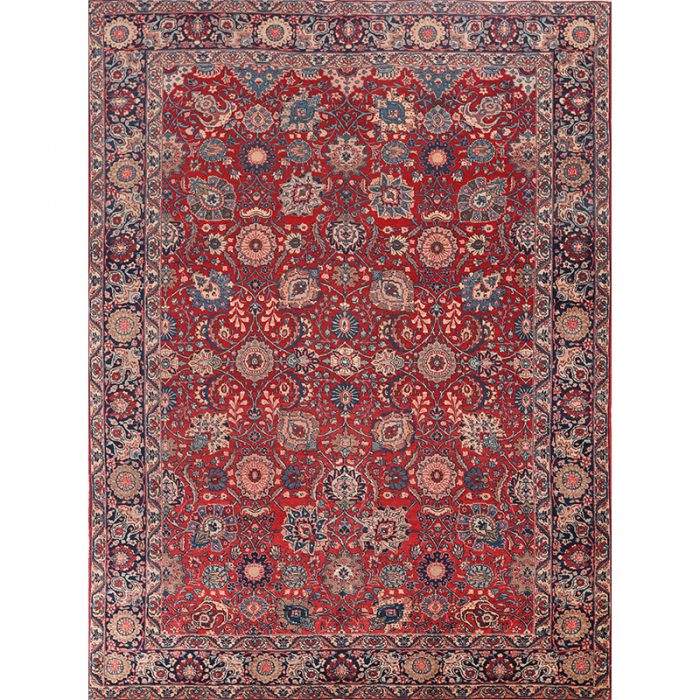 "8'3"" x 11'1"" Antique Persian Tabriz Rug - 108690"