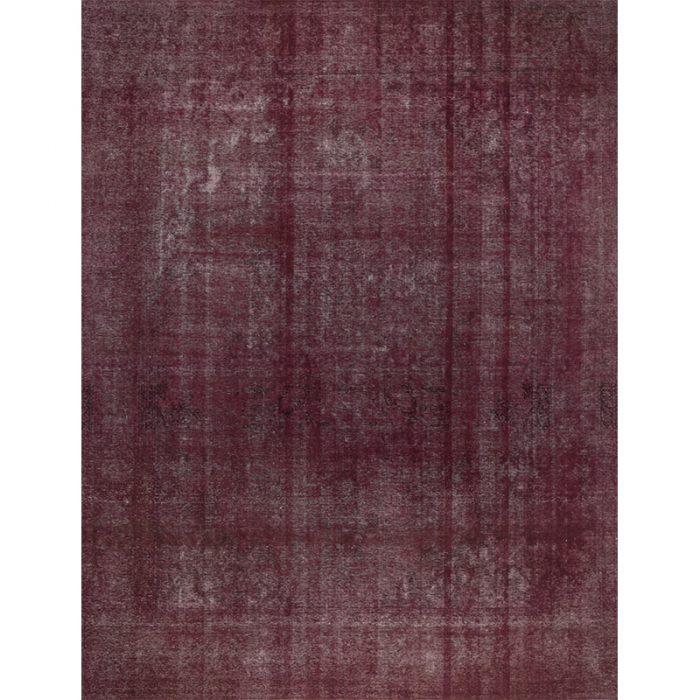Vintage Distressed Overdyed Persian Tabriz Rug 9.8 x 12.7 - 108893