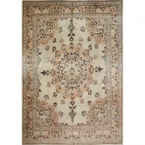 "8'8"" x 12'5"" Antique Persian Tabriz Rug - 106492"