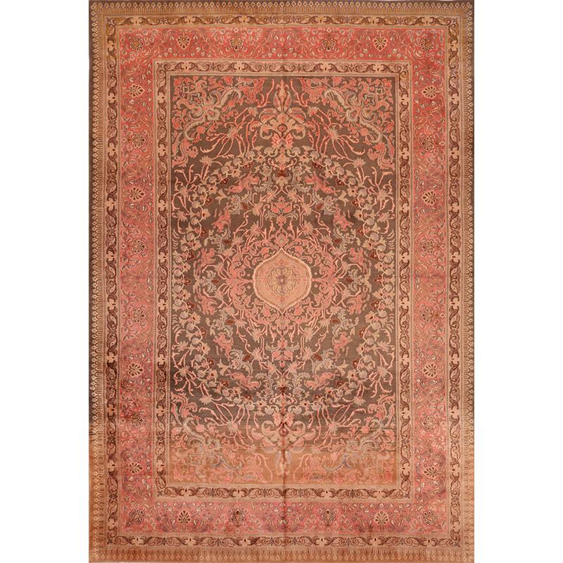 Old Handwoven Persian Kashmar Area Rug 8.5x12.6