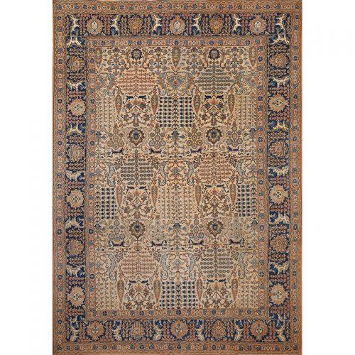 "8'4"" x 12'0"" Antique Persian Tabriz Rug - 108414"