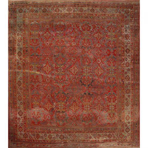 """15'0"""" x 19'0"""" Antique Turkish Oushak Rug - 108764"""
