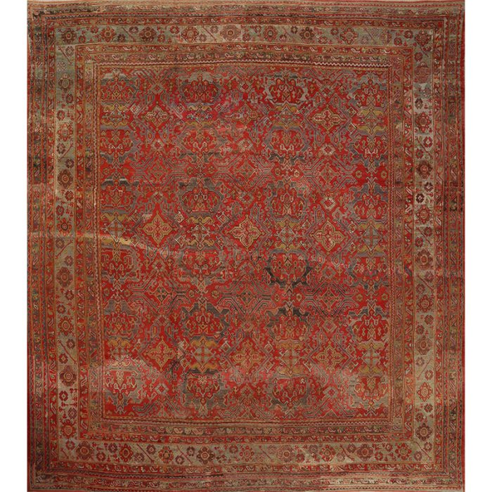 15x19 Antique Red Turkish Oushak Rug - 108764