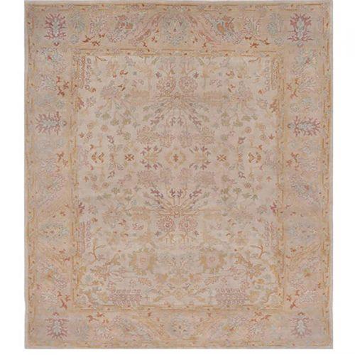 9x12 Antique Beige Oushak Style Rug - 108770