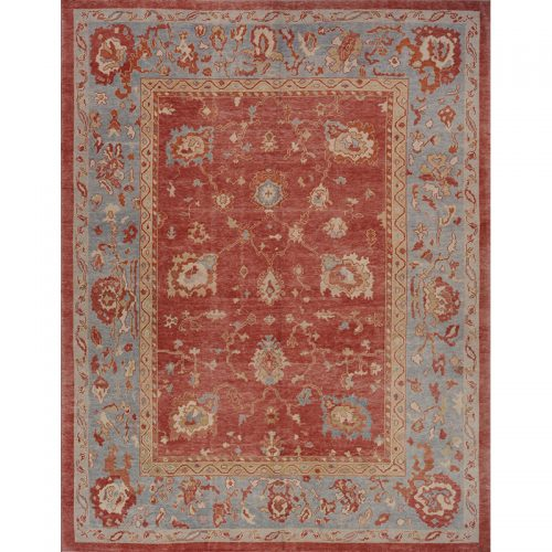 Traditional Handwoven Turkish Oushak Rug 10.1x12.9