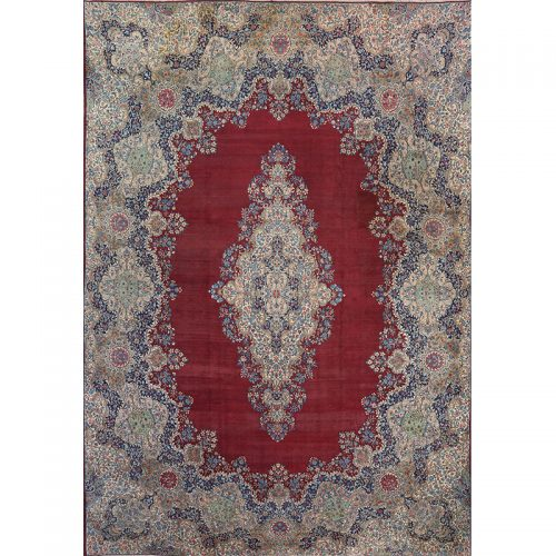 Antique Persian Lavar Kerman Area Rug 14.0x21.0 - B103817