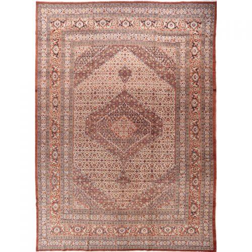 "13'1"" x 18'4"" Antique Persian Tabriz Rug - 108790"